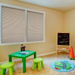 cellular shade cordless in kids playroom